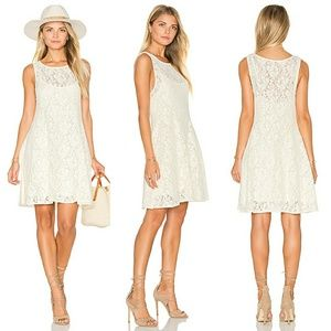 •FREE PEOPLE• Miles Of Lace Fit & Flare Dress.